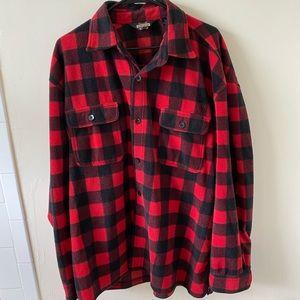 Guide Gear Red & Black Fuzzy Flannel